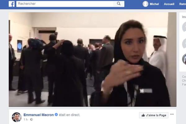 La vidéo avortée au Louvre d'Abu Dhabi toujours visible sur le Facebook de l'Elysée - Louvre d'Abu Dhabi ©Facebook Emmanuel Macron