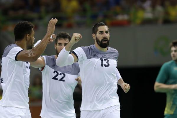 10 buts d'avance à la mi-temps pour les Bleus (17-7) - France - Brésil en direct (handball) ©Ben Curtis/AP/SIPA