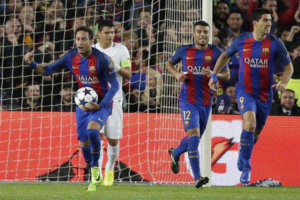 C'est terminé ! Le PSG est éliminé de la Ligue des champions - Barca - PSG ©Emilio Morenatti/AP/SIPA