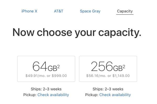 iPhone X : des délais de livraison de 2 à 3 semaines aux US - Commande iPhone X ©