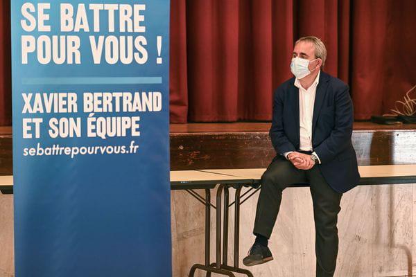 Xavier Bertrand en campagne dans les Hauts-de-France, crédits : Sarah ALCALAY/SIPA