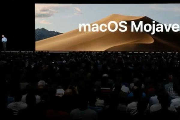 Mac : présentation de macOS Mojave - Apple WWDC 2018 ©Capture WWDC/Apple