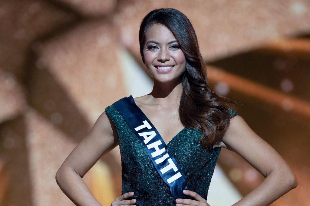 Vaimalama Chaves, Miss Tahiti 2018 et Miss France 2019. Crédit photo : VILLARD/SIPA