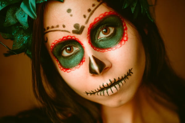 Le maquillage d'Halloween de La Catrina - Halloween ©Elvira / Adobe Stock