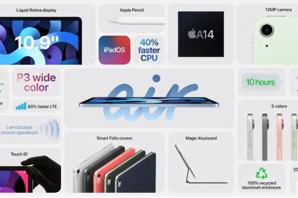 Les caractéristiques de l'iPad Air en une seule image!  - Apple Keynote 2020 ©