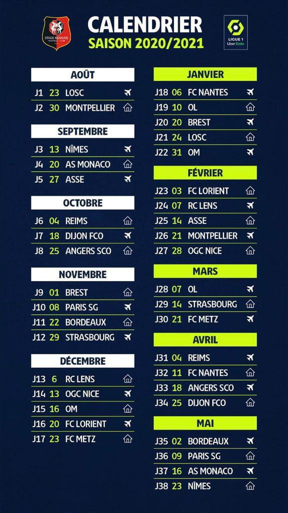 Ligue 1 : voici le calendrier officiel et les dates de tous les matchs