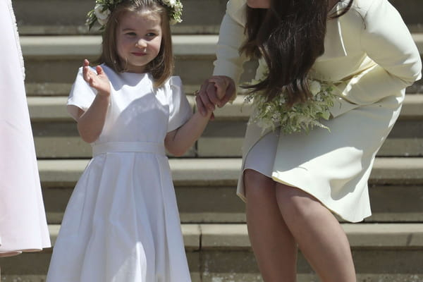 La princesse Charlotte craquante comme jamais au mariage du prince Harry et de Meghan Markle - Mariage prince Harry ©Jane Barlow/AP/SIPA